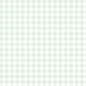 cucumber and white gingham