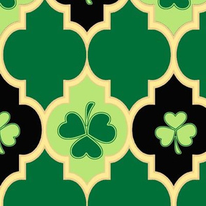 Quatrefoil Irish Shamrocks