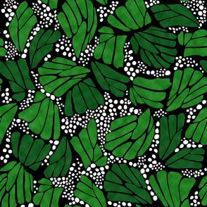 Black Verdant Green Monarch Butterfly