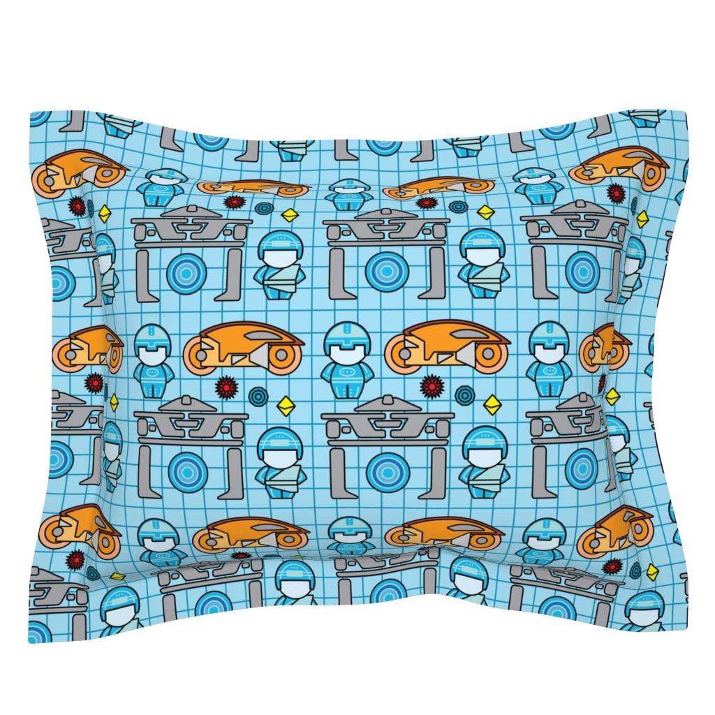 Sebright Pillow Sham featuring Greetings, Programs! by studiofibonacci