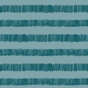 terry cloth towel stripe-pool blue