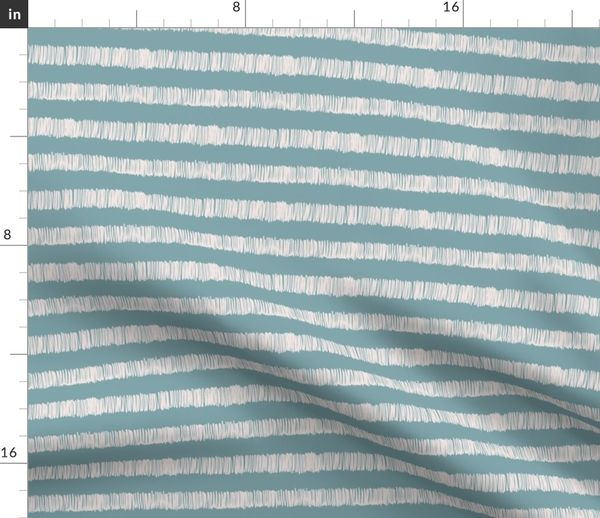 Fabric by the Yard terry cloth towel stripe pool blue/sunbleached pink