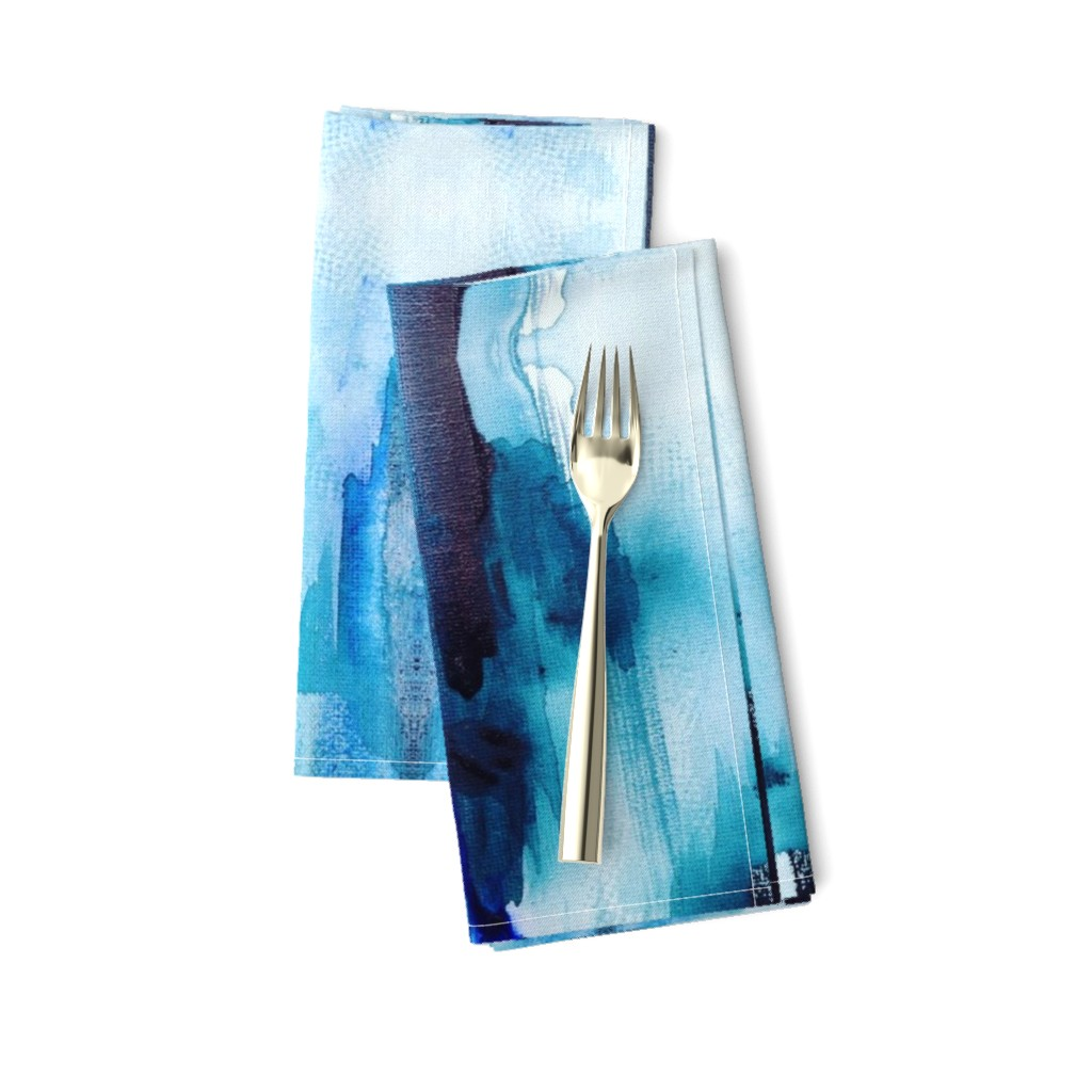Amarela Dinner Napkins featuring Blue Inks by rissocodesigns