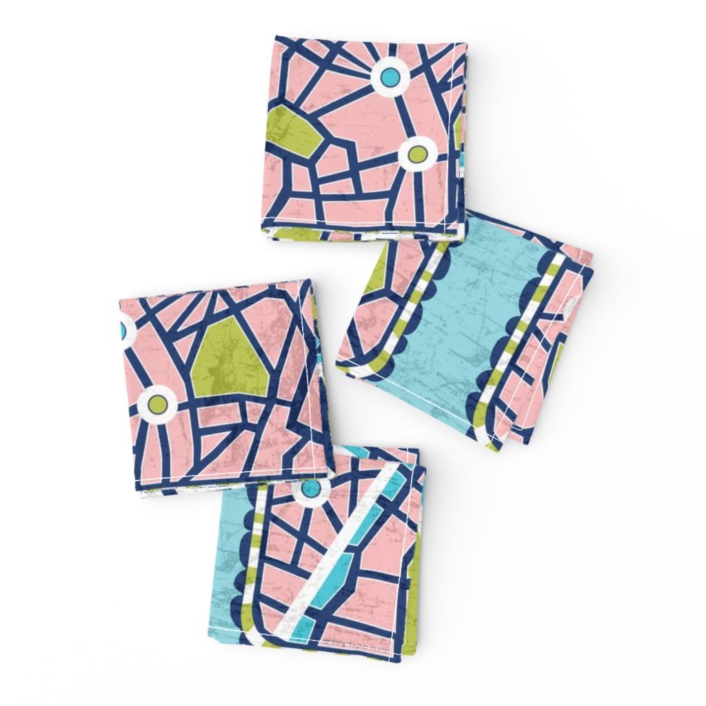 Frizzle Cocktail Napkins featuring J'adore Paris Tea Towel - Map Eiffel Tower by heatherdutton