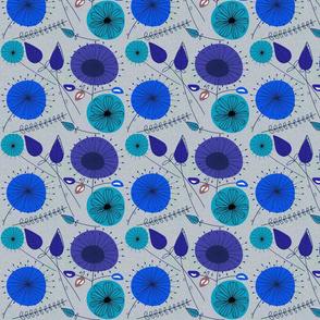 Blue Dandelion Clocks