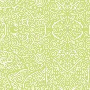 matcha green and white mendhi