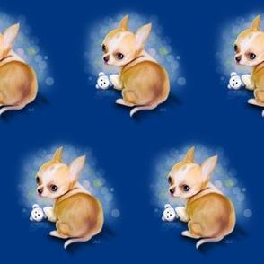 Chihuahua Blue Medium pattern
