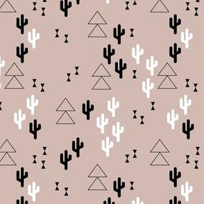 Geometric cactus scandinavian fall winter trend triangle design gender neutral beige