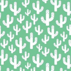 Cactus garden cool trendy summer design for kids in green