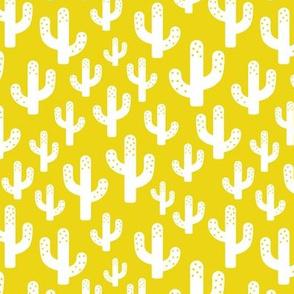 Cactus garden cool trendy summer design for kids in gender neutral yellow