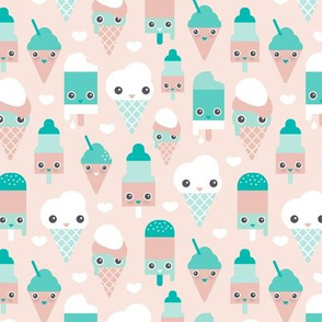 Colorful sweet summer ice cream popsicle sugar pastel kawaii illustration gender neutral