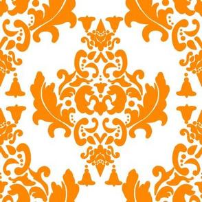 Delicious Damask in Bright Orange