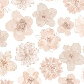 Tulle Flowers - White