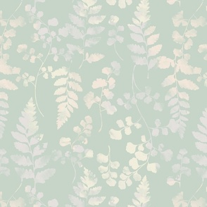 Watercolour Ferns Spearmint
