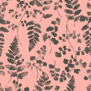 Watercolour Ferns Candy