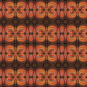 Psychedelic Orange Swirls