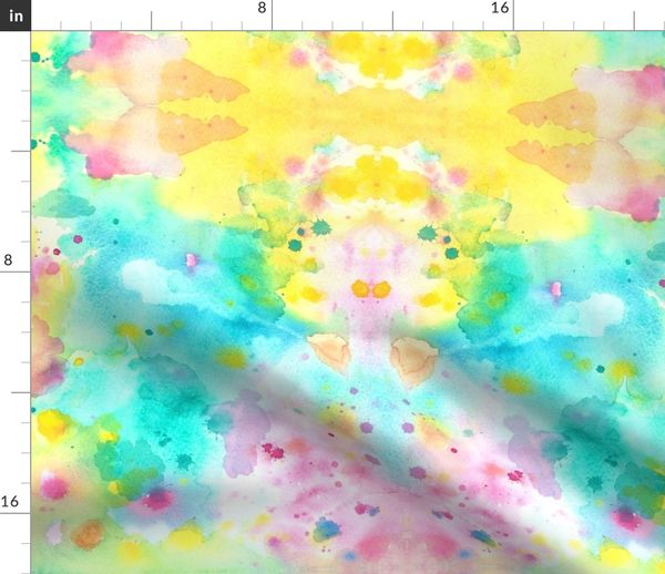 Fabric By The Yard Abstract Spring Watercolors