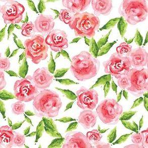 Whimsical Roses - WHITE