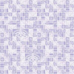 Five Tiles & Butterflies - lavender