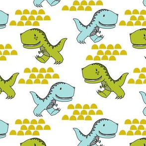 Dinos in Green and Blue
