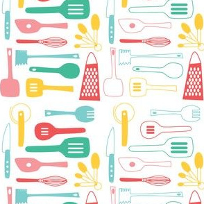 Kitschy Utensils in Retro