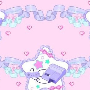 Retro Lolita Gamer Ribbons and Stars