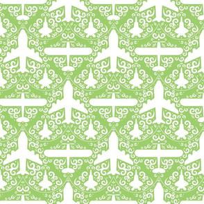Aircraft Damask (Green)