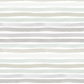 Gray Hues Watercolor Stripes by Friztin