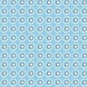 Silk Foulard blue