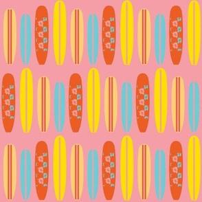 surfboard swell (sunset pink) ©2012 Jill Bull