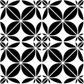black geometric pattern