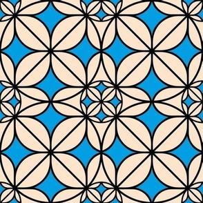 blue on orange geometry