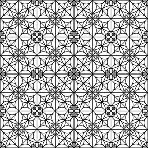 black geometric ornament
