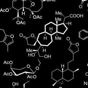 Molecules on Black - Large