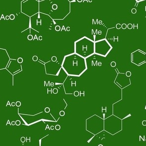 Molecules - Green - Large