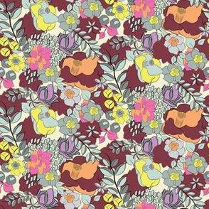 16-15Y Maroon Periwinkle Floral_Miss Chiff Designs