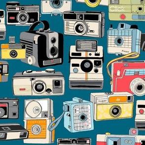 Make It Snappy! (Midnight) || vintage camera illustrations analog photography film photo photographer