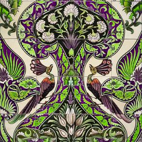 Merton Peacock Tile ~ Custom Colors