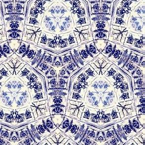 Delft blue toile