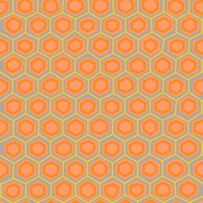 Hex lines in peach