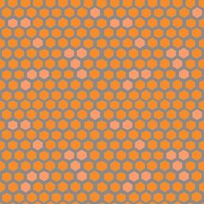 Hex spots in peach