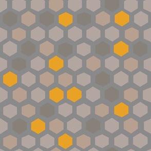 hex shapes: cloud + honey + cafe