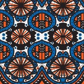 Afternoon doodle blue/orange