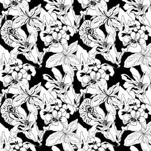black_floral_tile