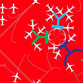 airplane terminal red