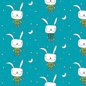 bedtime for little rabbit_dblue_stars
