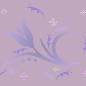 Tulip Mist large in hyacinth purple © 2009 Gingezel™ Inc.