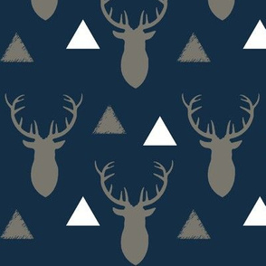 Navy_and_Gray_and_White_Deer_Heads_and_Triangles