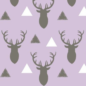 Gray_and_Lavender_Deer_Heads_and_Triangles