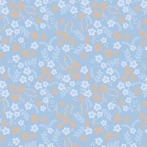 Ava Floral - pale blues